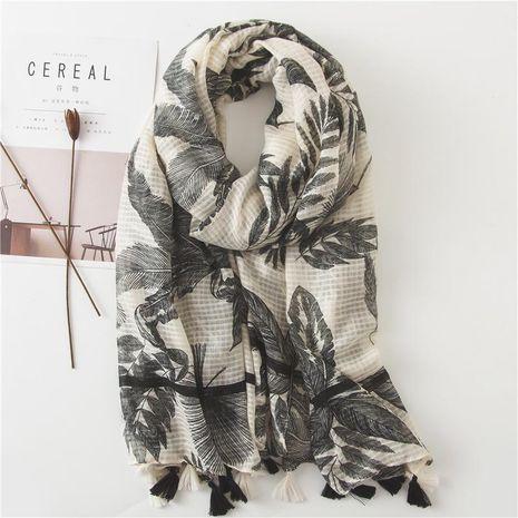 Fashion leaf travel seaside vacation sunscreen scarf shawl scarf scarf beach towel women NHGD188369's discount tags
