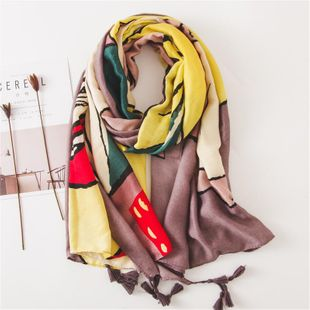 Wild beach towel spring and autumn travel sunscreen cotton and linen scarf shawl women NHGD188372's discount tags