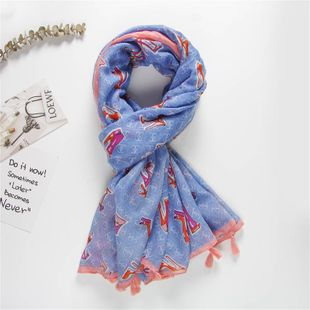 Cute personality pattern Korean scarf shawl women NHGD188375's discount tags