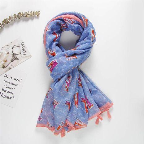 Cute personality pattern Korean scarf shawl women NHGD188375's discount tags