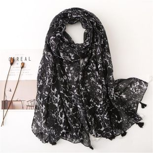 Marble and stone pattern scarf female sun shawl dual-purpose wild woman NHGD188379's discount tags