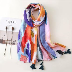 Pink cotton scarf soft touch sun protection sea shawl vacation NHGD188380's discount tags