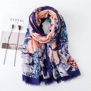 New cotton and linen scarf fringed fashion silk scarf printing travel sun shawl NHGD188384's discount tags