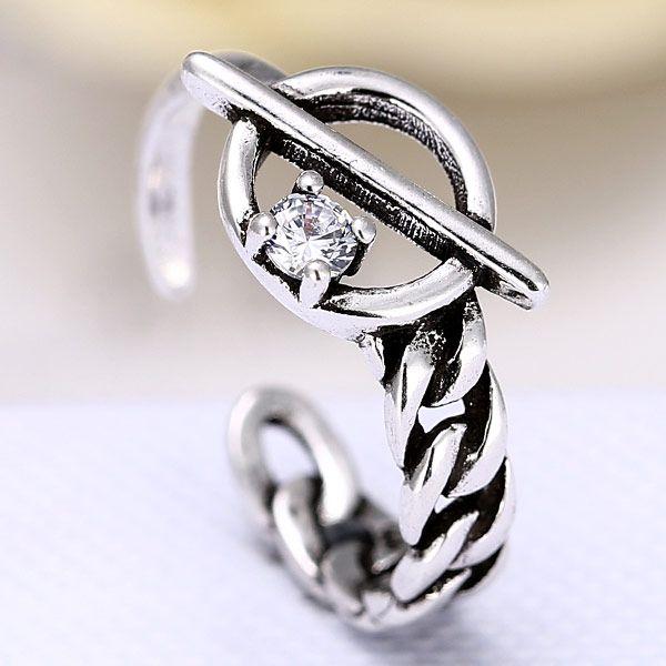 fashion metal imitation Thai silver open ring NHSC188113