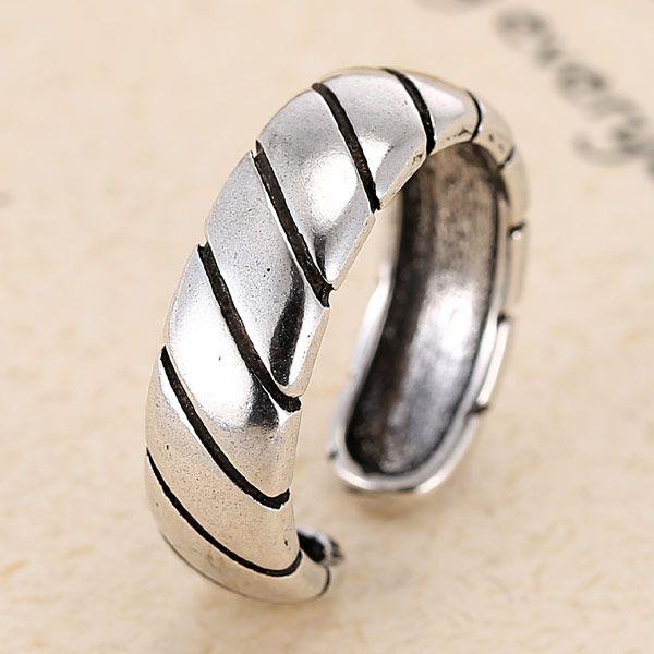 fashion jewelry metallic vintage simple open ring NHSC188118