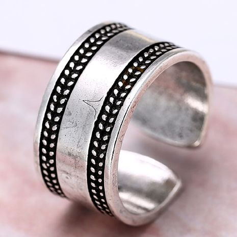 wholesale fashion jewelry metal Thai silver women's open ring NHSC188121's discount tags