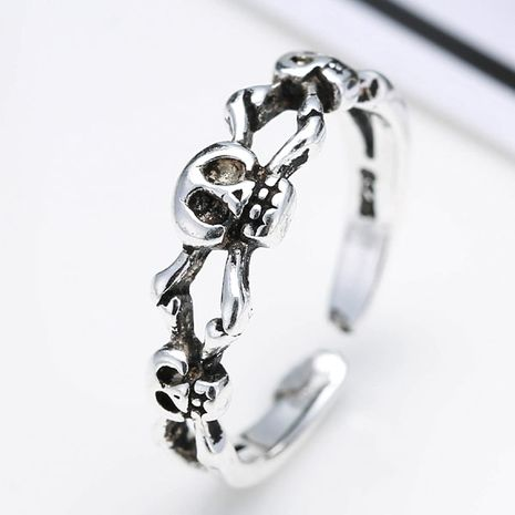 wholesale fashion jewelry metal Thai silver women's open ring NHSC188123's discount tags