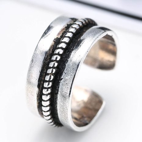 wholesale fashion jewelry metal Thai silver women's open ring NHSC188124's discount tags