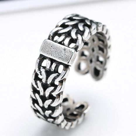 wholesale fashion jewelry metal Thai silver women's open ring NHSC188125's discount tags