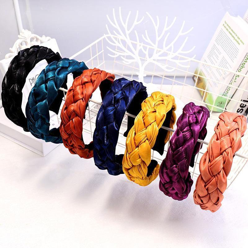 High-grade cloth twist hair hoop wide version braids hair accessories direct sales NHDM188442