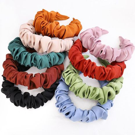Wrinkled hair hoop cute lady soft cloth net red wild hair jewelry women NHDM188445's discount tags