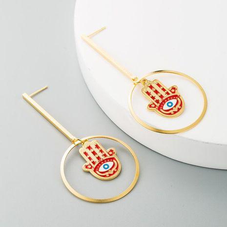 Best selling earrings stainless steel hand of Fatima long palm earrings female drop earrings NHLN188468's discount tags