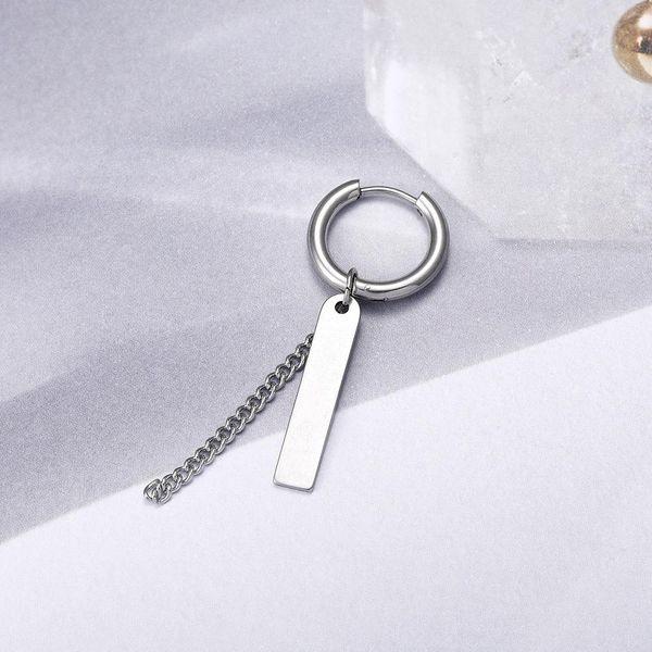 Men's Titanium Steel Earrings Chain Tassel Earrings Stud Earrings NHIM188476