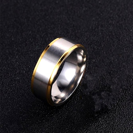 8mm titanium steel simple couple ring stainless steel gold gold ring wholesale NHIM188492's discount tags
