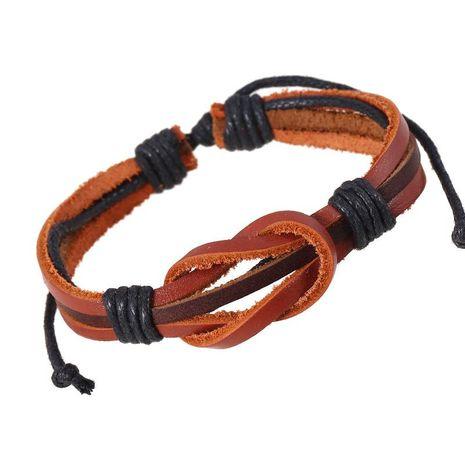 Simple Retro Woven Cowhide Bracelet Bracelet Leather Bracelet NHPK188560's discount tags