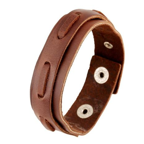 Simple leather bracelet men's ladies retro leather rope braided bracelet leather jewelry NHPK188575's discount tags