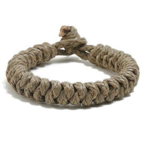 Hand-woven vintage hemp rope bracelet simple casual bracelet jewelry NHPK188578's discount tags