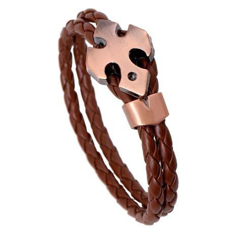 PU woven leather bracelet new bracelet NHPK188604's discount tags