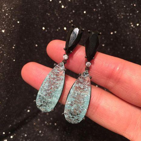 Blue Water Drop Earrings Female Retro S925 Silver Tassel Earrings NHWK188616's discount tags