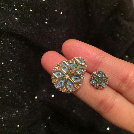 Fashion boho colored stitched petal earrings NHWK188649's discount tags