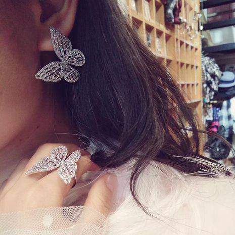 S925 Silver Pin Oversized Butterfly Earrings Luxury Dinner Dress Accessories NHWK188652's discount tags