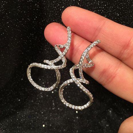 Streamer earrings curvy ribbon earrings luxury dress red carpet earrings NHWK188666's discount tags