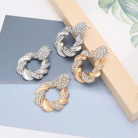 earrings alloy diamond rhinestone earrings female retro earrings NHJE188681's discount tags