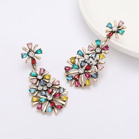 Winter earrings multi-layer alloy diamond rhinestone flower earrings female retro earrings NHJE188688's discount tags