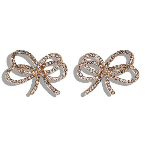 Alloy studded bow earrings Korean new fashion earrings NHJQ188695's discount tags