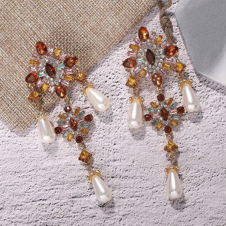 Alloy Diamond and Pearl Gem Earrings Vintage Tassel Earrings Accessories NHJQ188696's discount tags