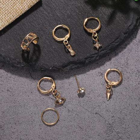 Fashion alloy stud earrings explosion style jewelry accessories wholesale NHJQ188702's discount tags