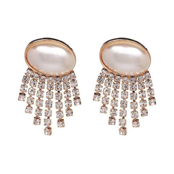 New Pearl Earrings with Diamond Earrings NHJJ188742