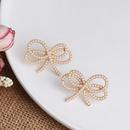 Bow micro stud earrings wholesale NHJJ188745