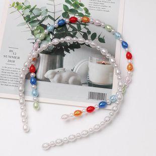 Pearl hair hoop size pearl hair clipper wild headband NHJJ188752's discount tags