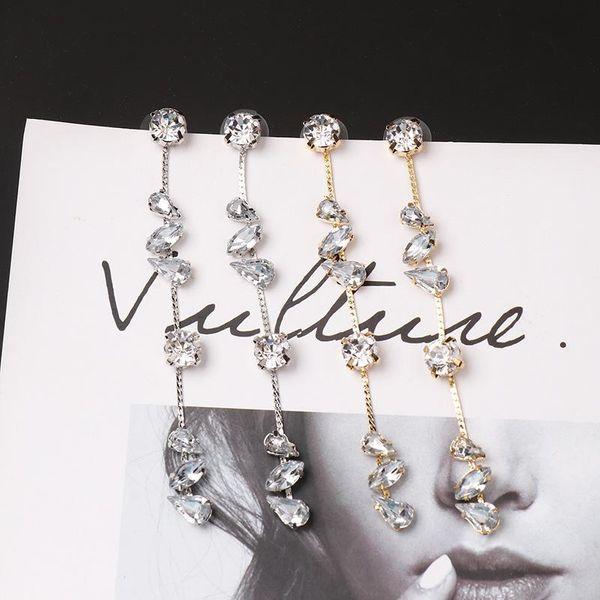 Rhinestone studs simple trend claw diamond inlaid creative earrings NHJJ188753
