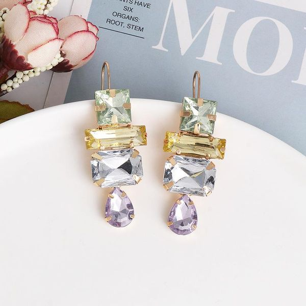 Geometric acrylic diamond earrings fashion temperament earrings autumn and winter models NHJJ188773