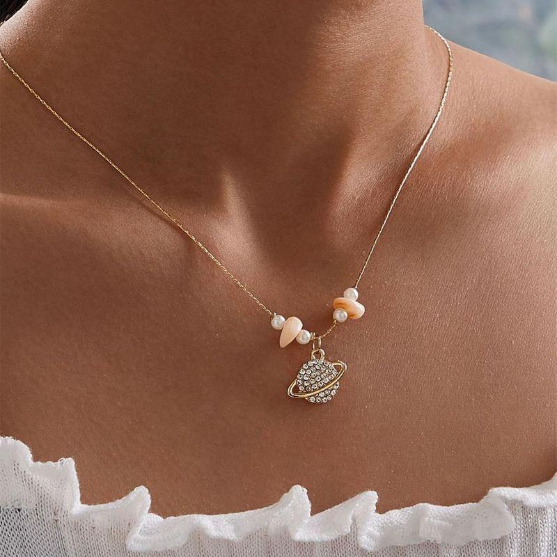 Clavicle chain gem pendant wholesales fashion NHKQ183521