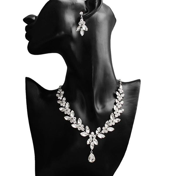Jewelry Set Simple Diamond Necklace Necklace Earring Set wholesales fashion NHHS183589