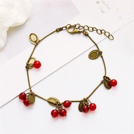 Wholesale Vintage Sweet Little Cherry Bracelet Fashion Gift Bracelet wholesales fahsion NHDP183730's discount tags