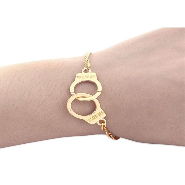 Simple Bracelets Fashion Handcuffs Jewelry Spoof Creative Bracelet Jewelry Wholesale NHKQ183446