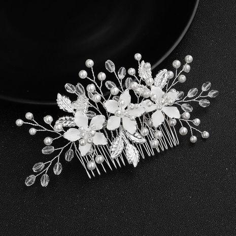 Joyería hecha a mano de temperamento de gama alta inserto peine de aleación fina recubierta cabeza de flor adornos para el cabello NHHS183580's discount tags