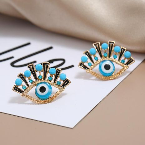 Fashion OL Temperament Eye Stud Personality Devil's Eye Geometric Earrings wholesales fashion NHKQ183479's discount tags