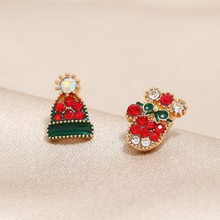 Christmas asymmetric hat earrings Christmas present gift NHKQ183496's discount tags