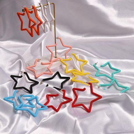 Aretes para mujer acrílicos con espacio pentagrama geométrico más vendidos NHJJ183533's discount tags