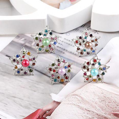 Verano nuevo retro moda perla melocotón anillo apertura ajustable anillo femenino al por mayor NHKQ183492's discount tags