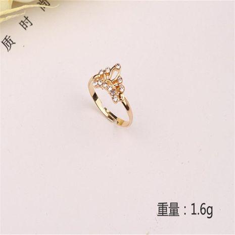 Exquisito anillo con forma de corona estilo simple pulsera ajustable para mujer al por mayor NHKQ183507's discount tags