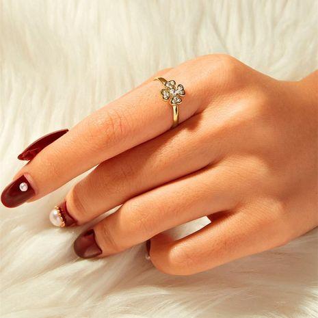 Explosión estilo simple anillo para mujer temperamento color oro NHKQ183519's discount tags