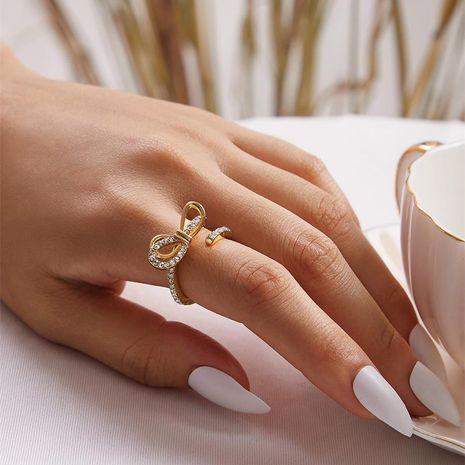 Nuevo con textura salvaje popular mano femenina decoración arco de moda apertura anillo ajustable NHKQ183523's discount tags