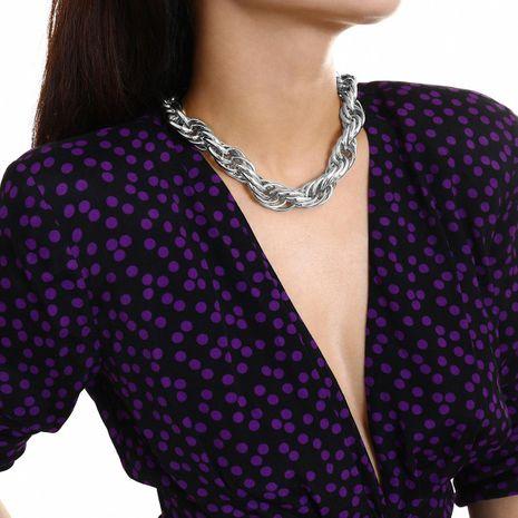 Collar simple de cadena gruesa de giro retro NHXR183554's discount tags