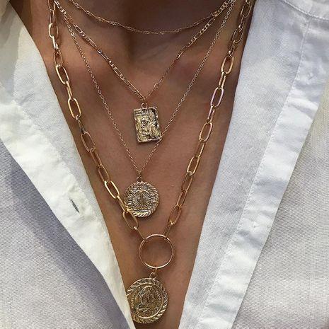 Decoración de cuello de apilamiento de anillo de múltiples capas de moda para mujer NHXR183577's discount tags
